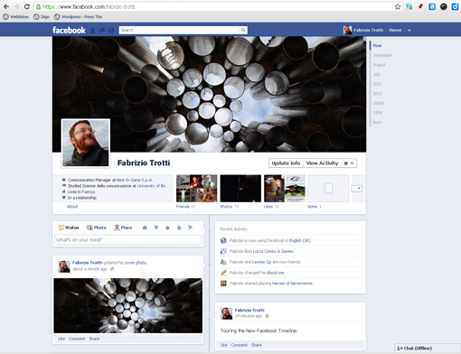 Facebook Timeline - My Profile